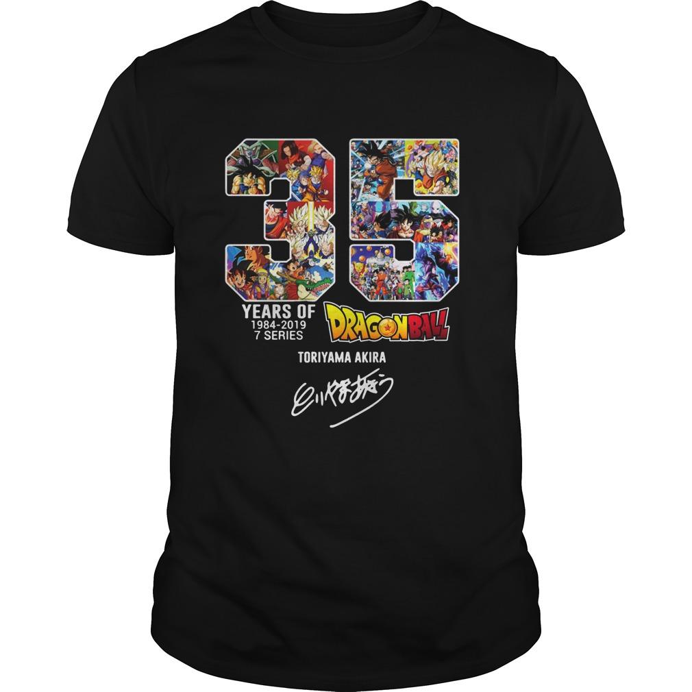 35 years of Dragon ball Toriyama Akira shirt