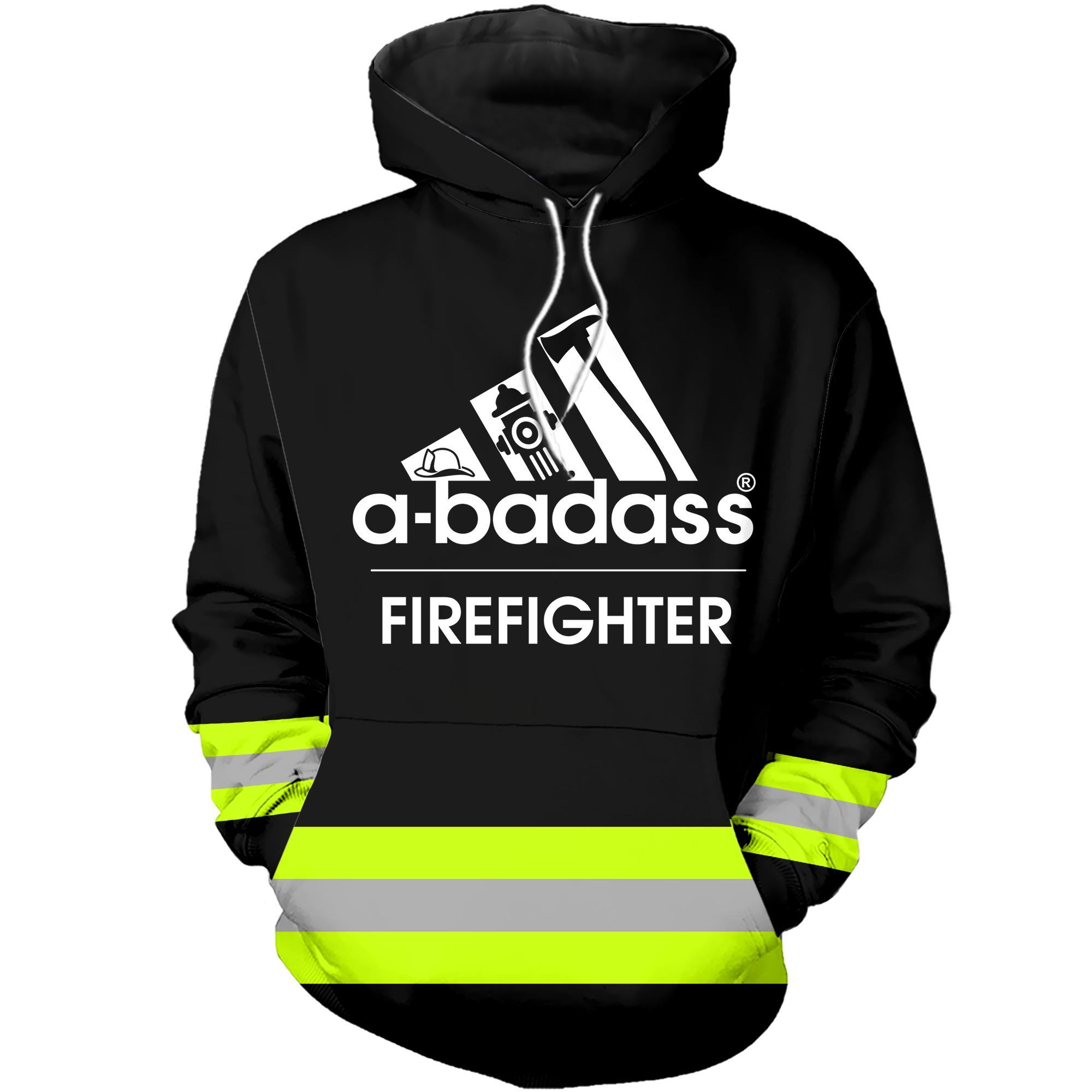 A badass firefighter hoodie 3D