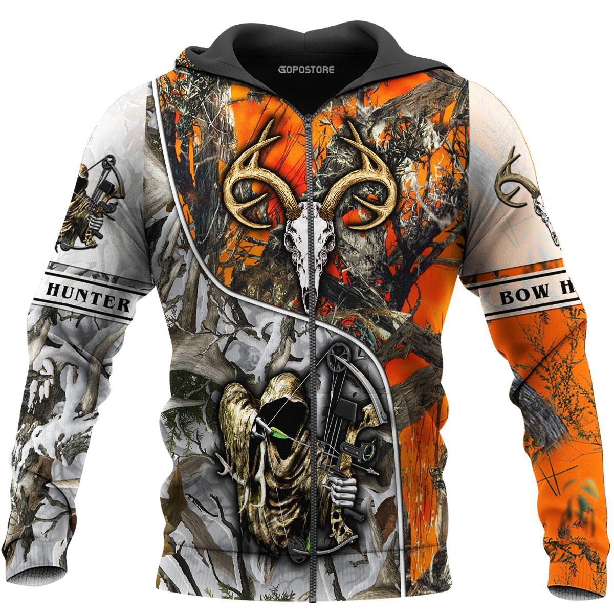 Bow Hunter 3d zip hoodie