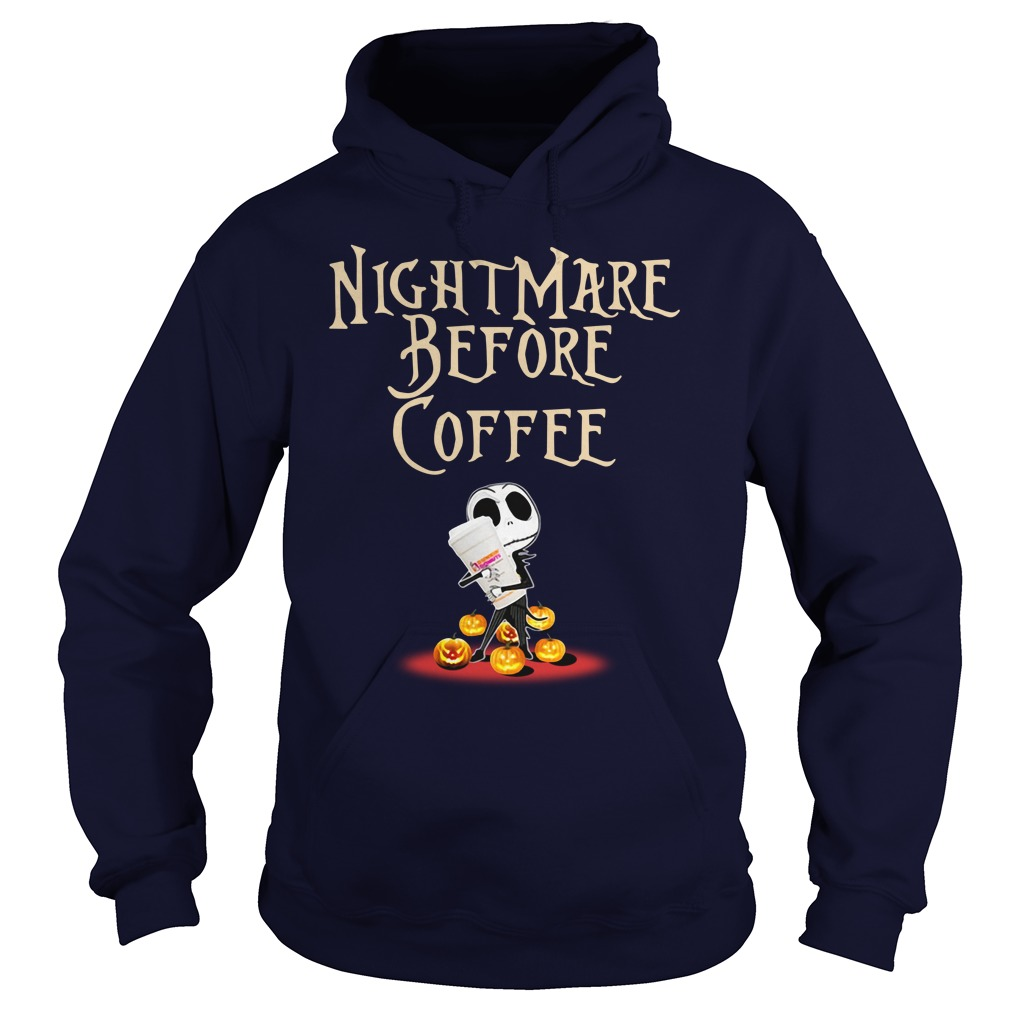 Dunkin' Donuts Nightmare before coffee hoodie