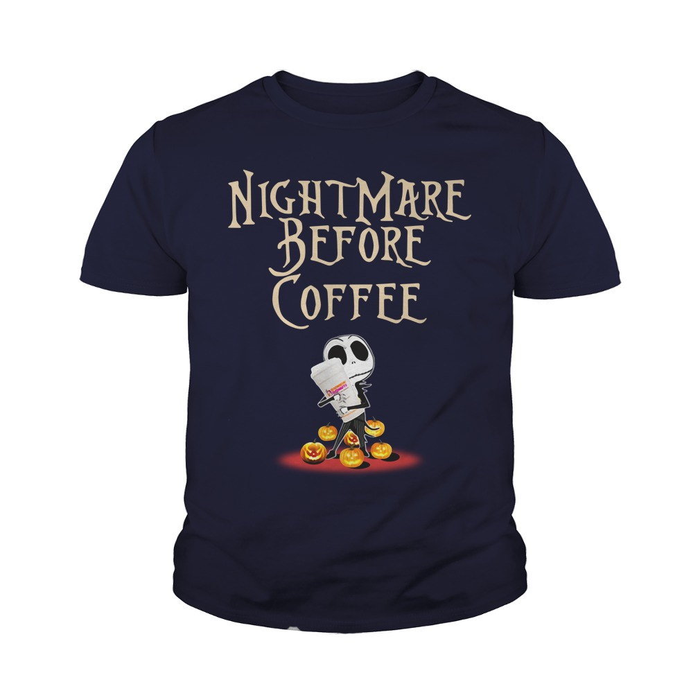 Dunkin' Donuts Nightmare before coffee youth tee