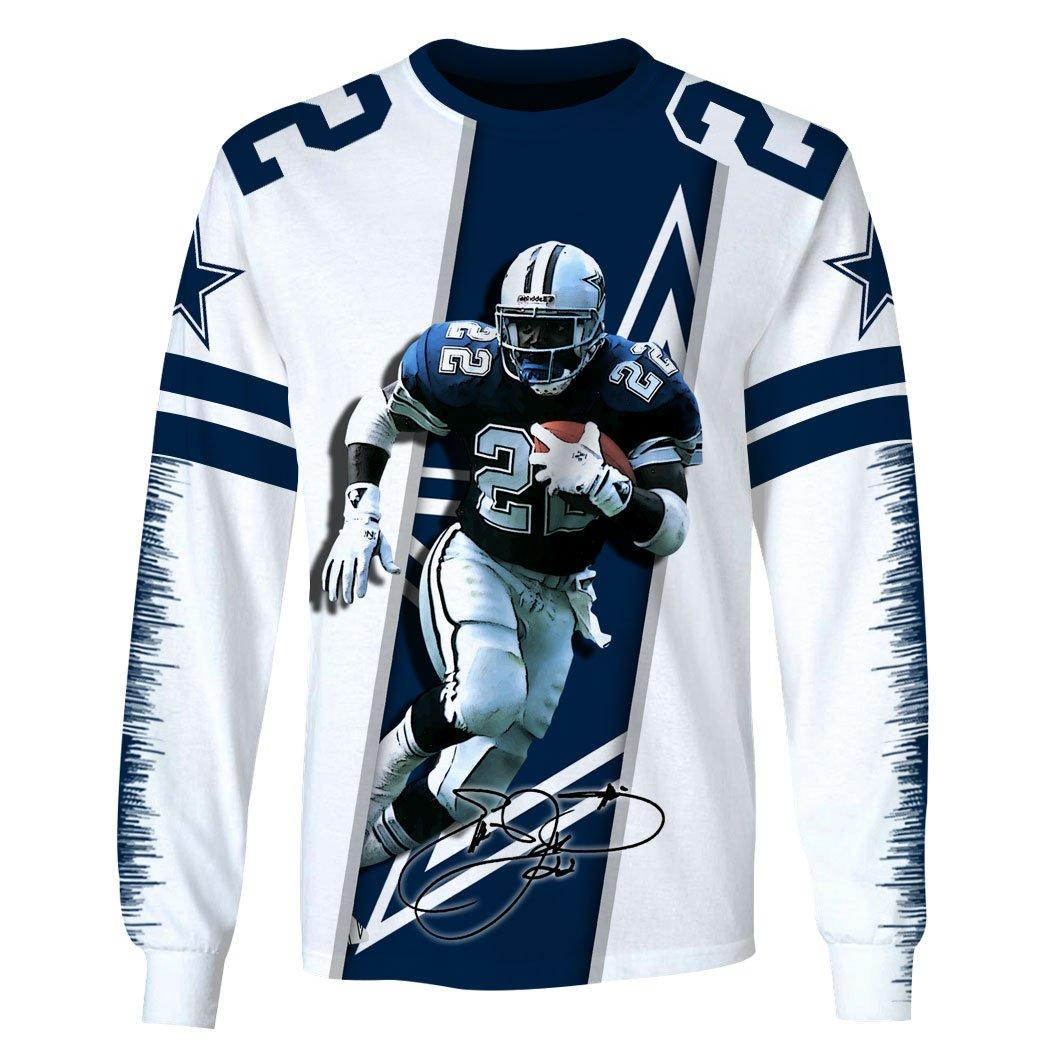 Emmitt Smith Signature Hoodie 3d - Long sleeve 3d
