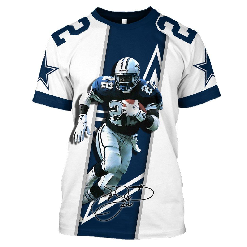 Emmitt Smith Signature Hoodie 3d - T-shirt 3D