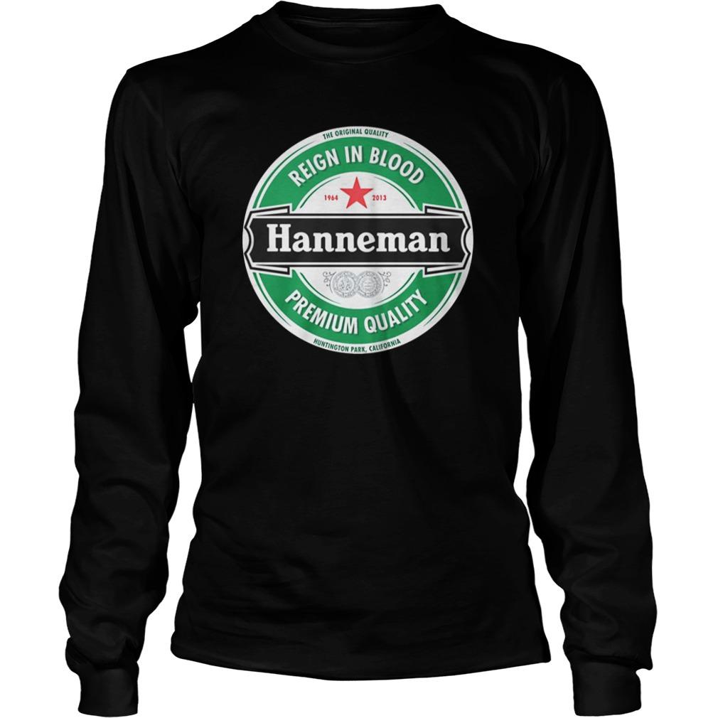 Hanneman reign in blood premium quality long sleeve tee