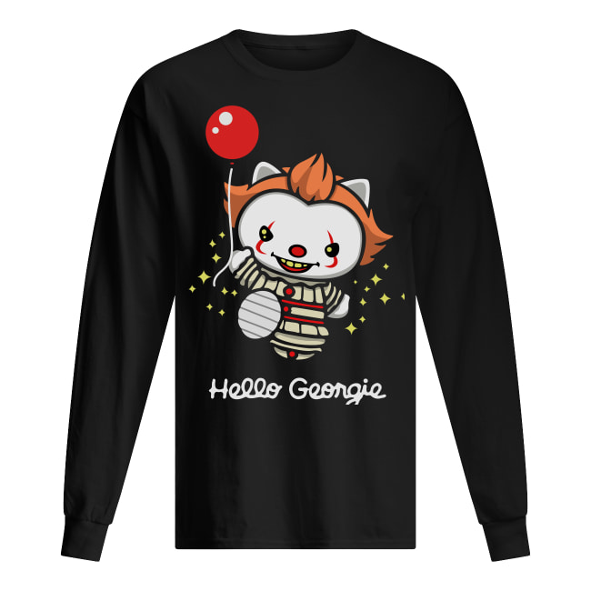 Hello georgie kitty IT long sleeved t-shirt
