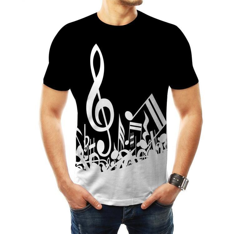 Music Notes T-shirt 3D - White
