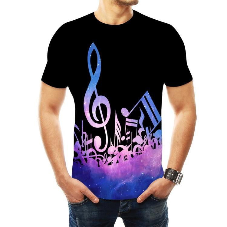 Music Notes T-shirt 3D