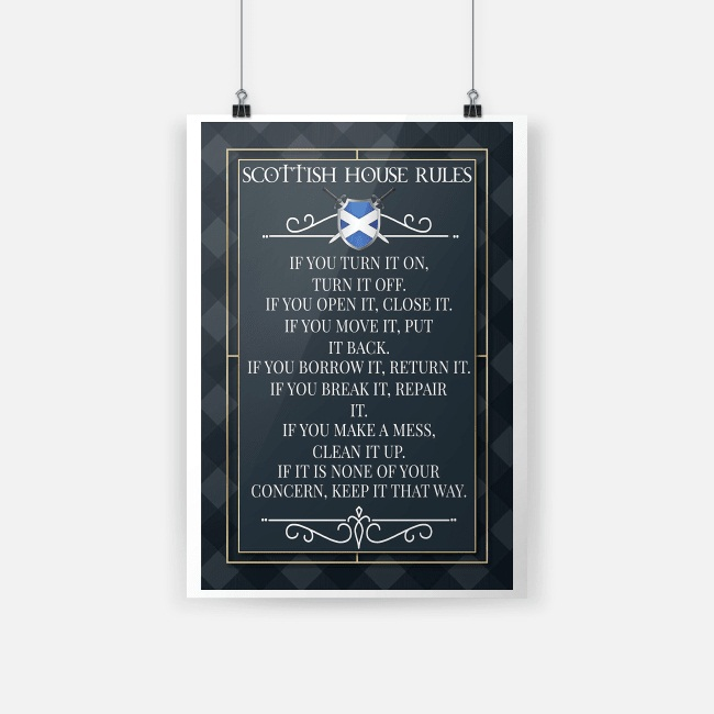 Scottish house rules if you turn it on poster A2 (420 x 594mm)
