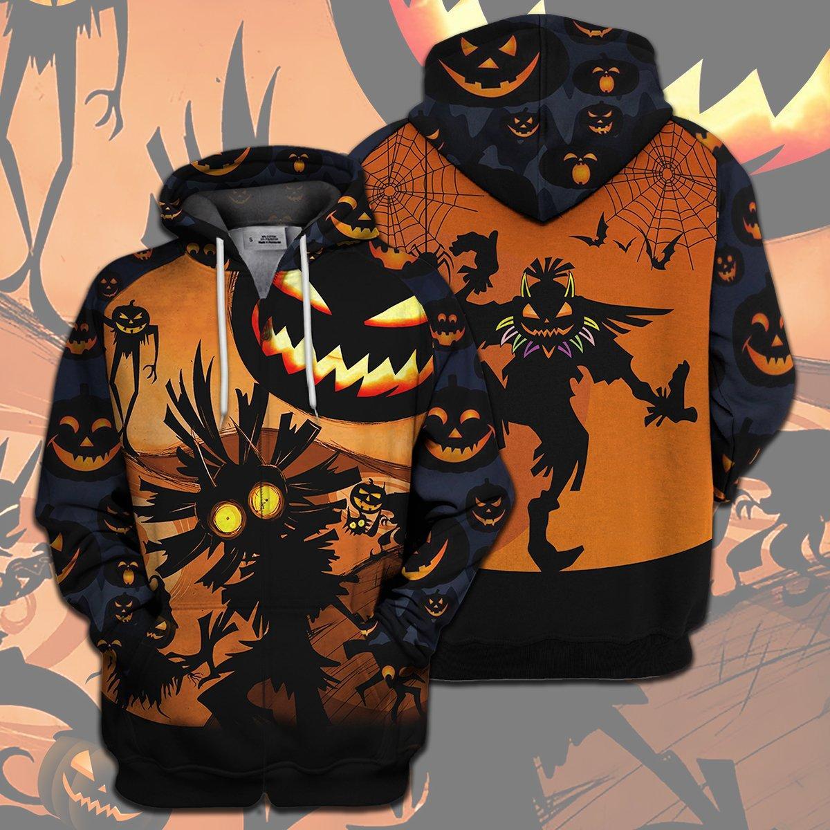 Skull Kid Halloween Full Print 3d hoodie - zip hoodie 3d