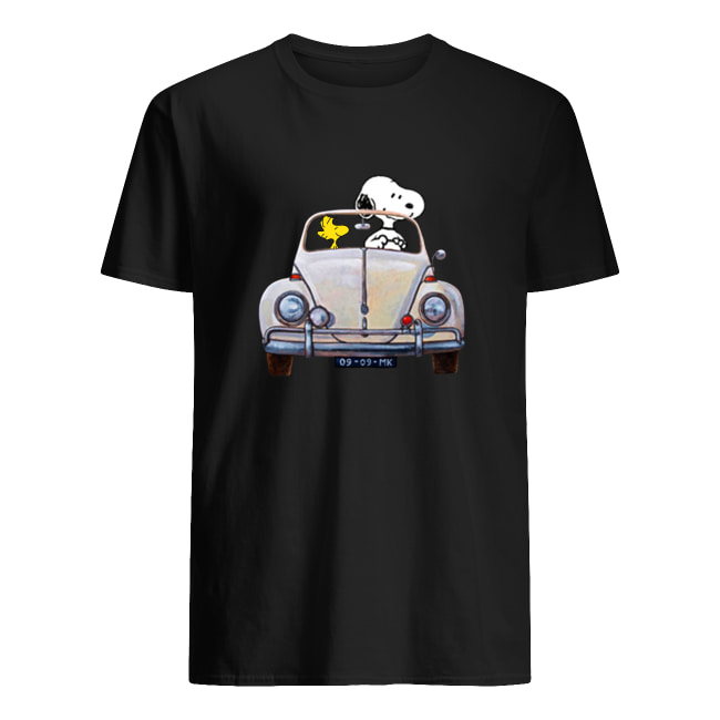 Snoopy and Woodstock driving car shirt