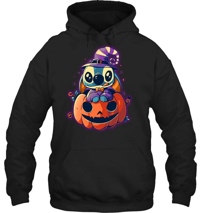 Stitch witch pumpkin hoodie