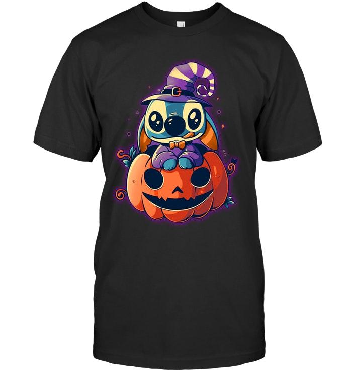 Stitch witch pumpkin shirt