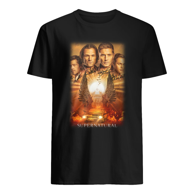 Supernatural all actor signature shirt