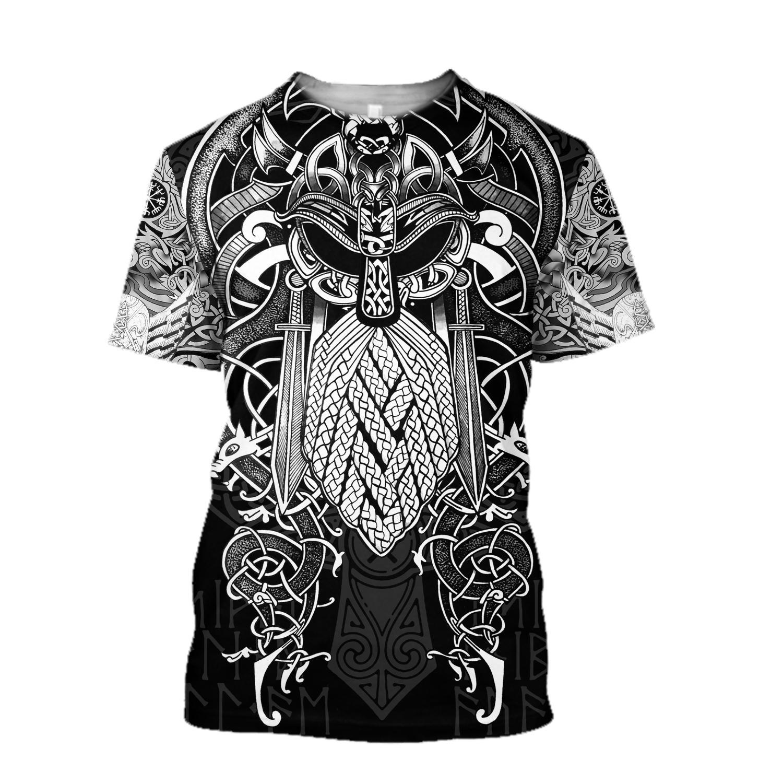 Vikings Odin Hoodie 3D - T-shirt 3D