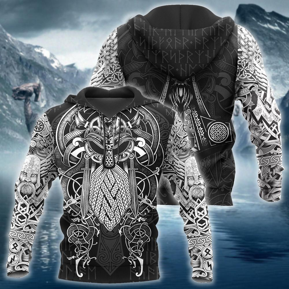 Vikings Odin Hoodie 3D