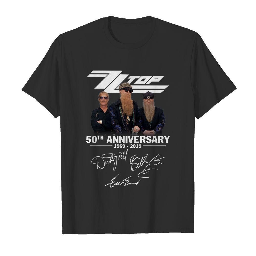 ZZ Top 50th anniversary signature shirt