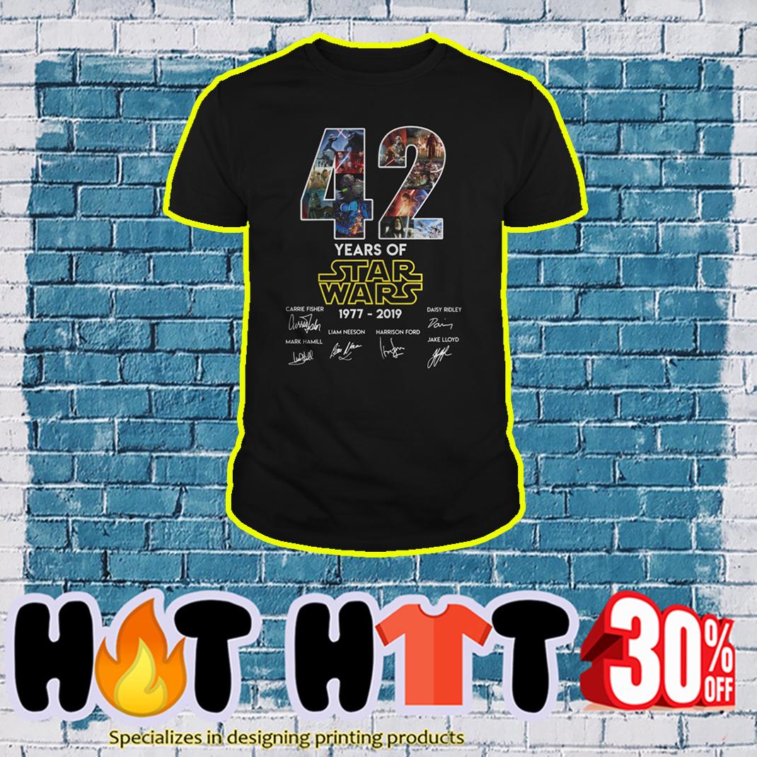 42 years of Star Wars 1977 2019 shirt