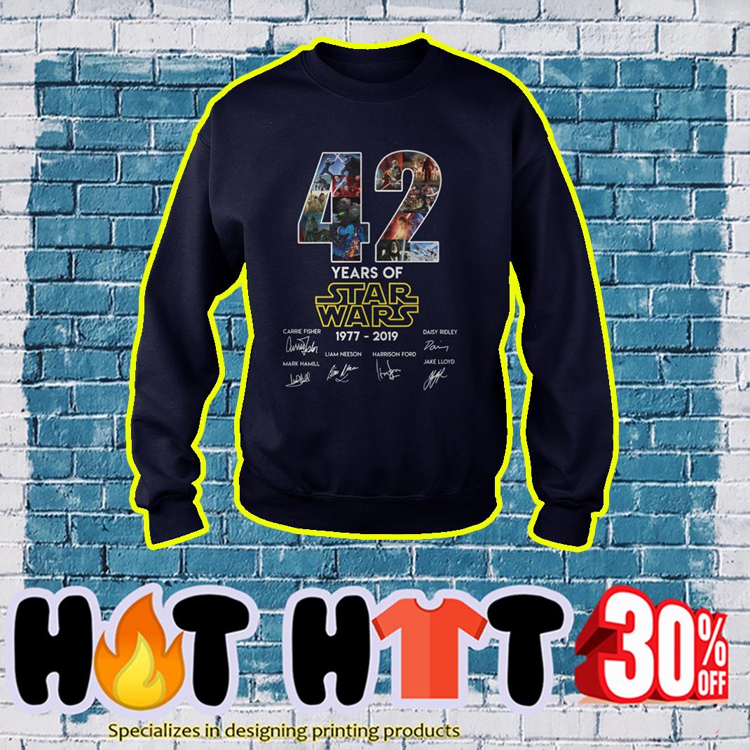 42 years of Star Wars 1977 2019 sweatshirt
