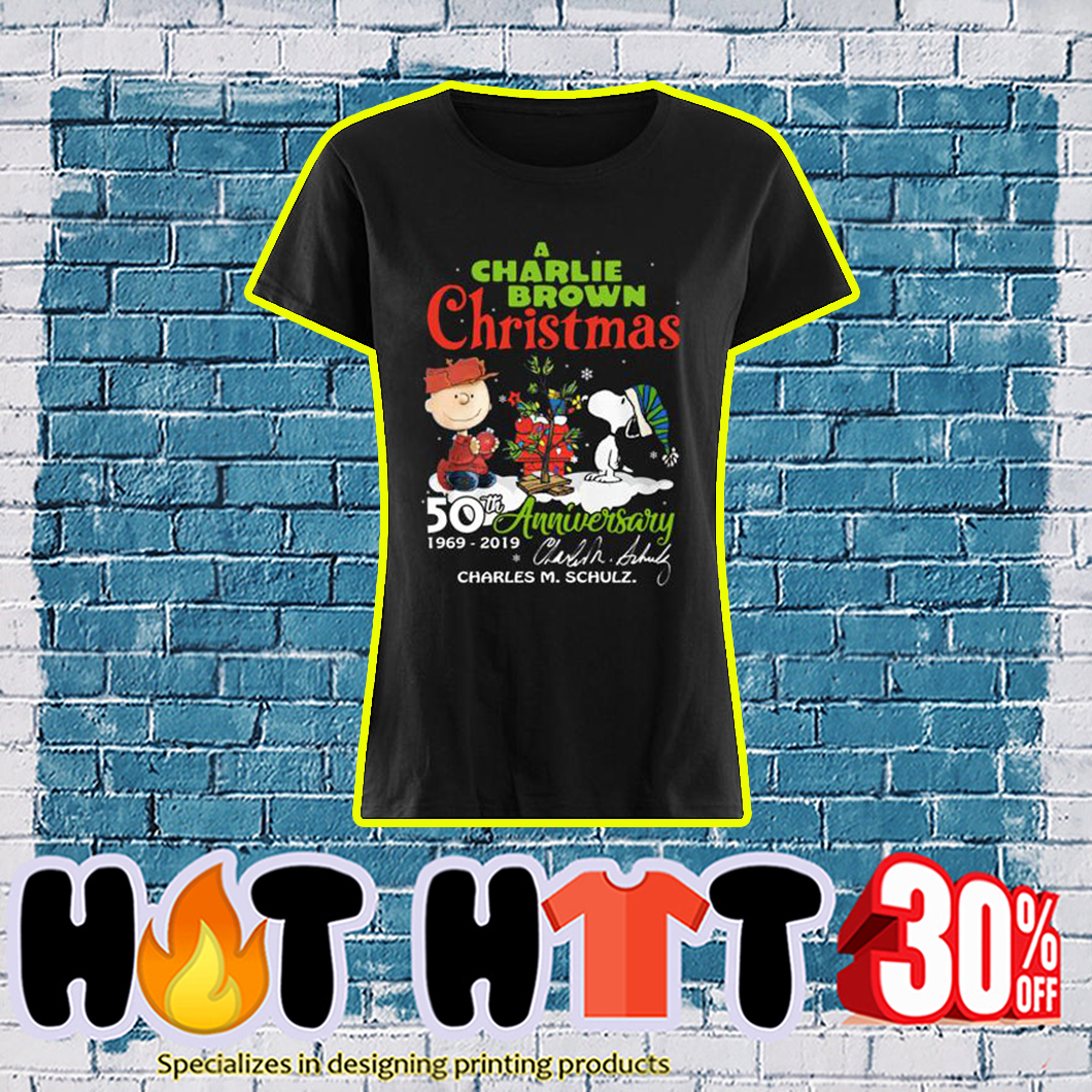 A Charlie Brown Christmas 50th Anniversary 1969 2019 Charles M. Schulz Signature Snoppy shirt