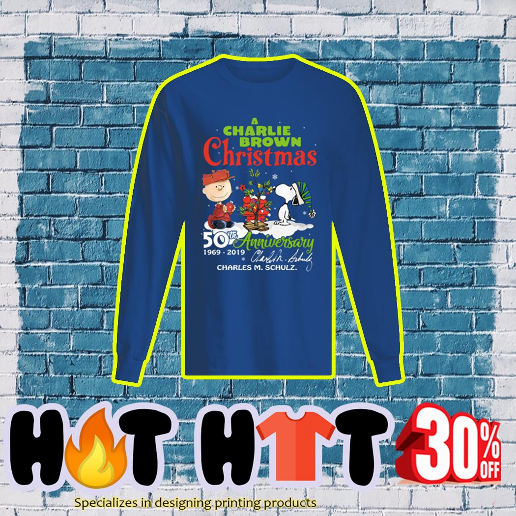 A Charlie Brown Christmas 50th Anniversary 1969 2019 longsleeve tee