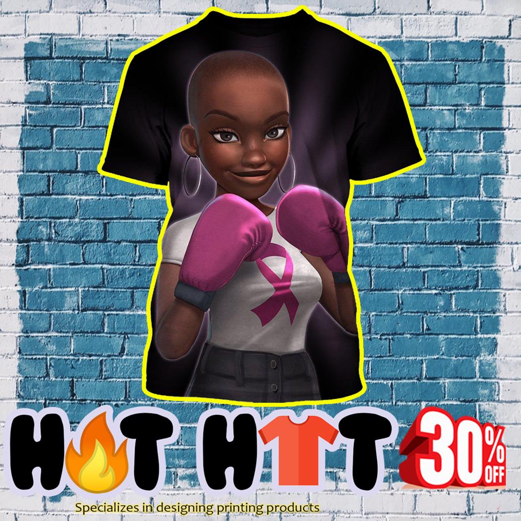Black Girl Pink Warrior Fight Like a Girl 3D t-shirt
