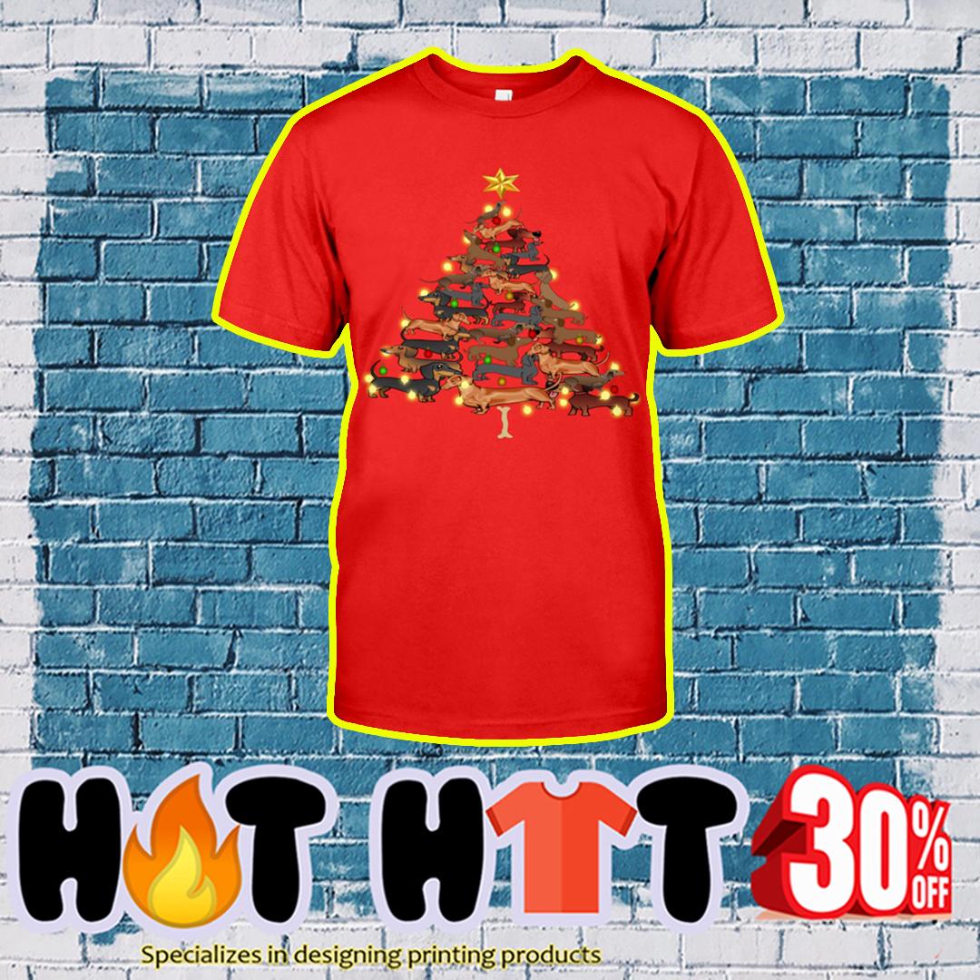 Dachshund Christmas Tree shirt