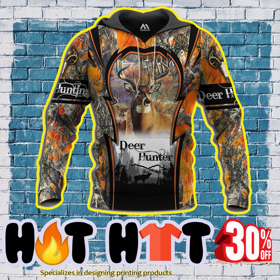 Deer Hunting Deer Hunter 3d All Over Printed Hoodie