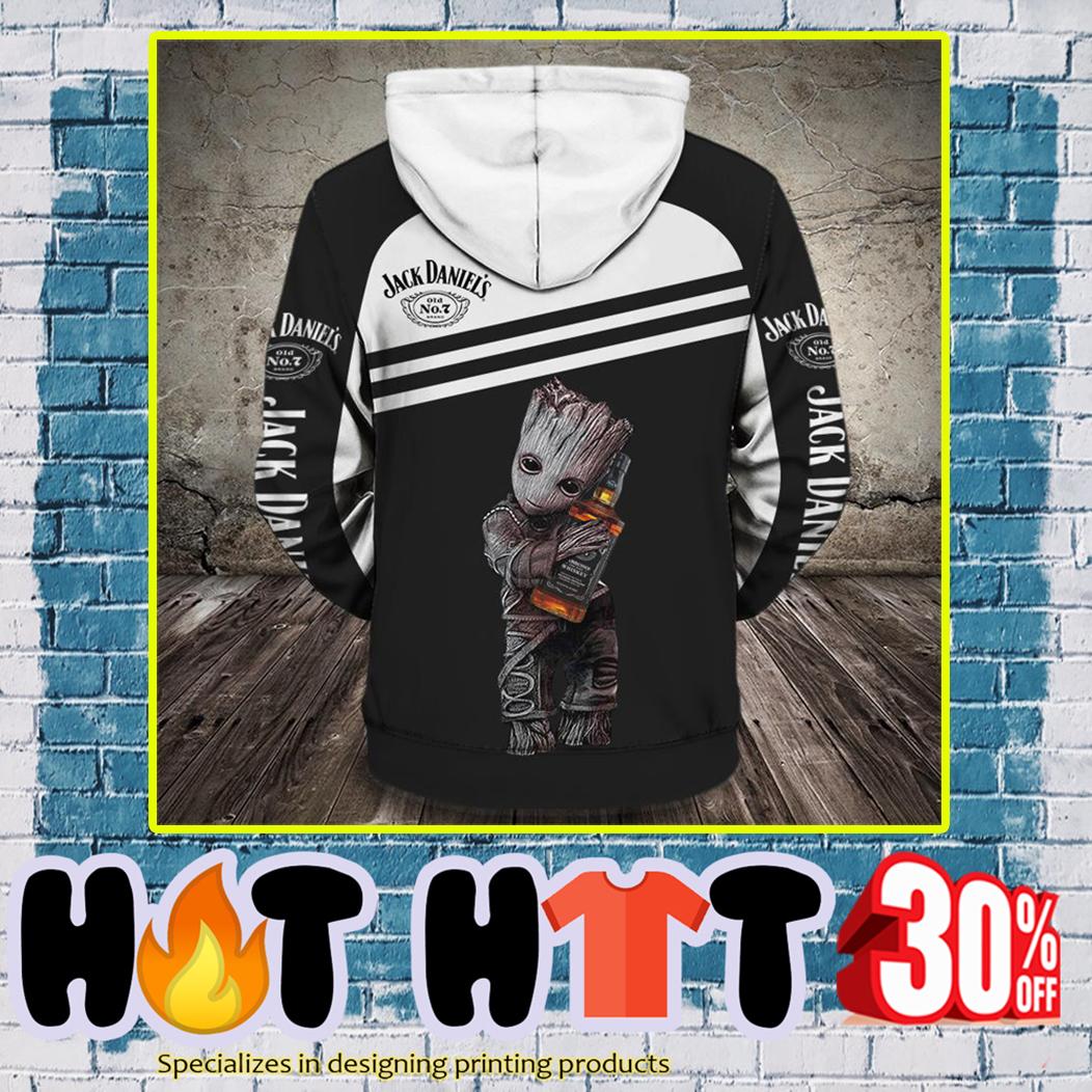 Groot Jack Daniel's 3d hoodie-back