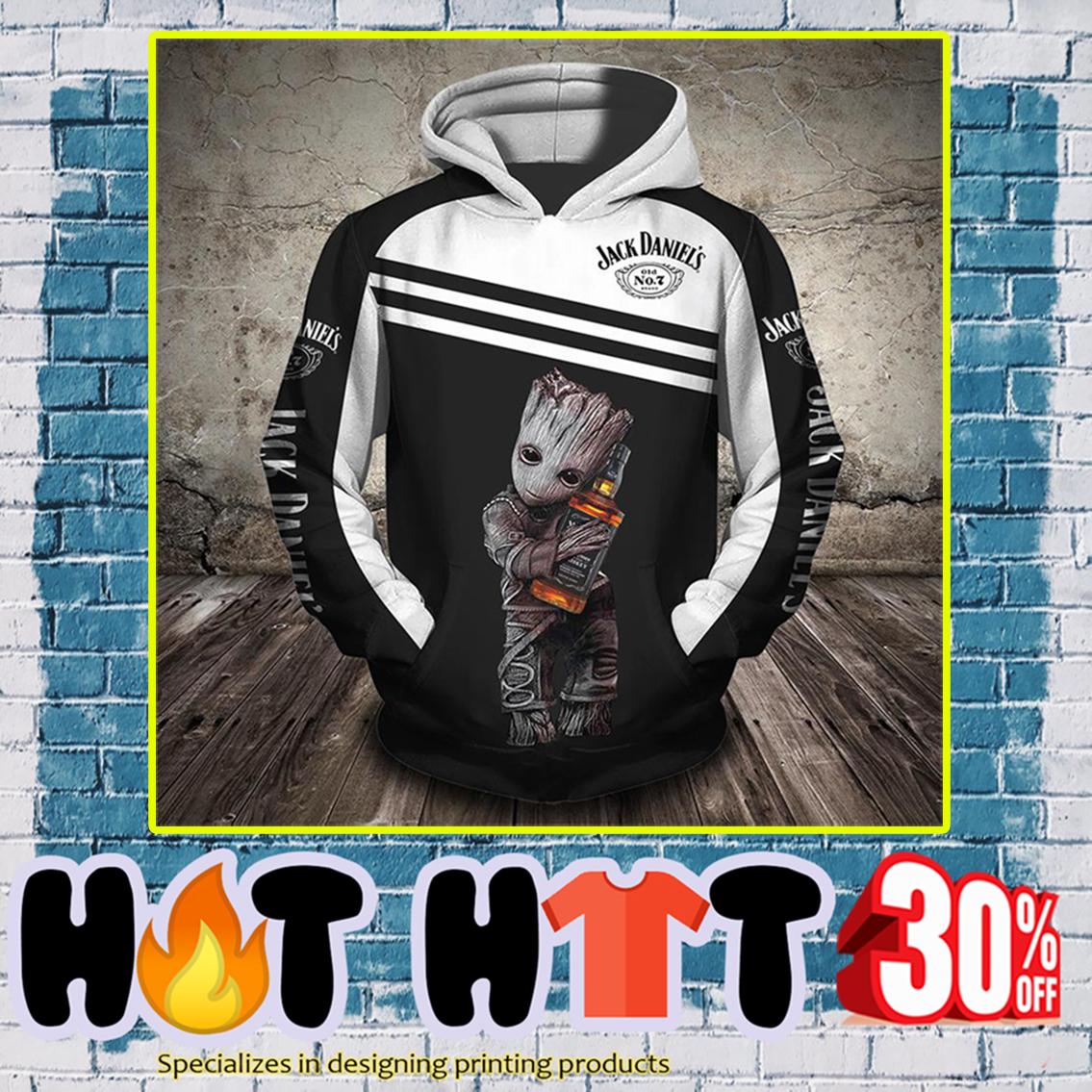 Groot Jack Daniel's 3d hoodie-front