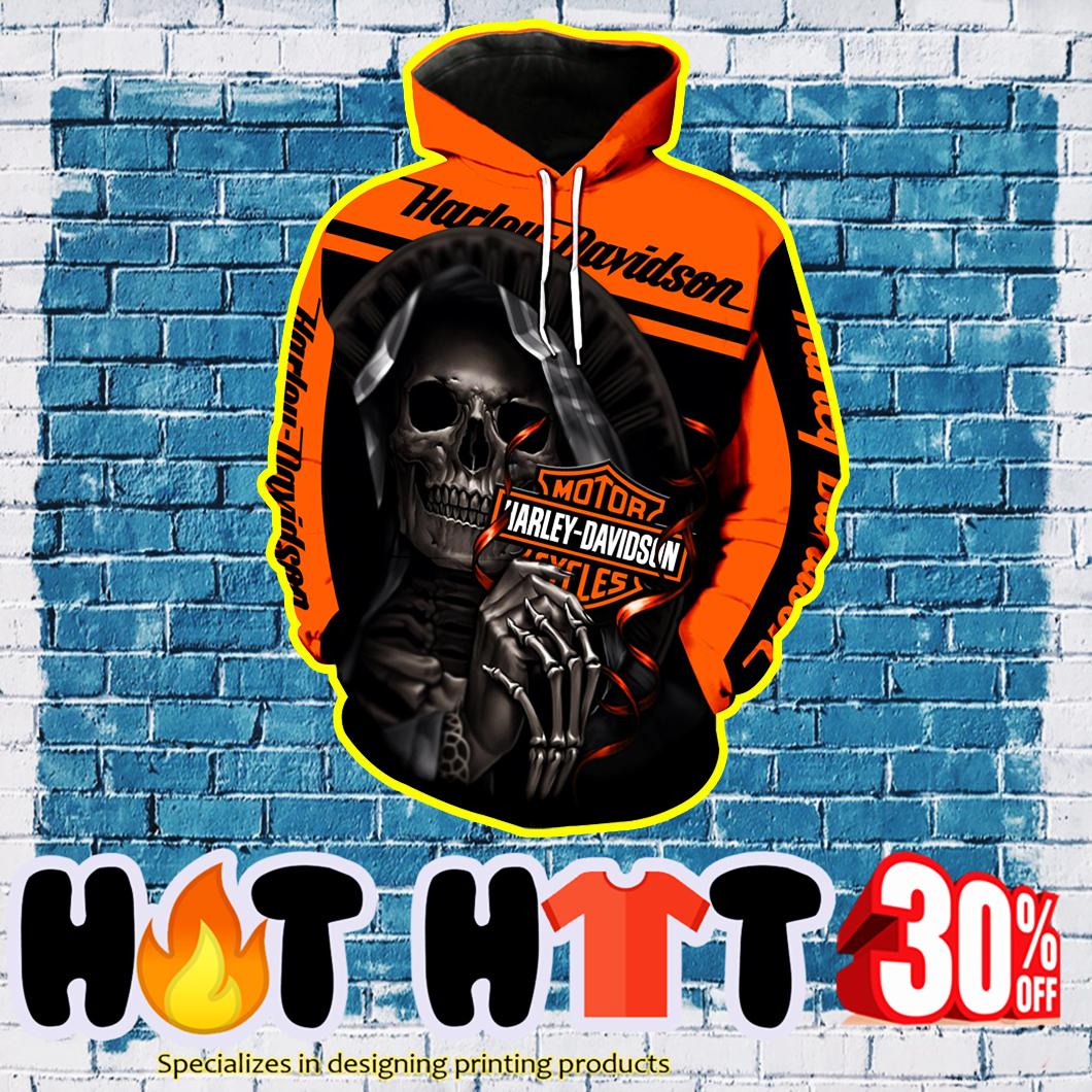 Harley-Davidson Motorcycle Skull Full Over Print 3D Hoodie, T-shirt