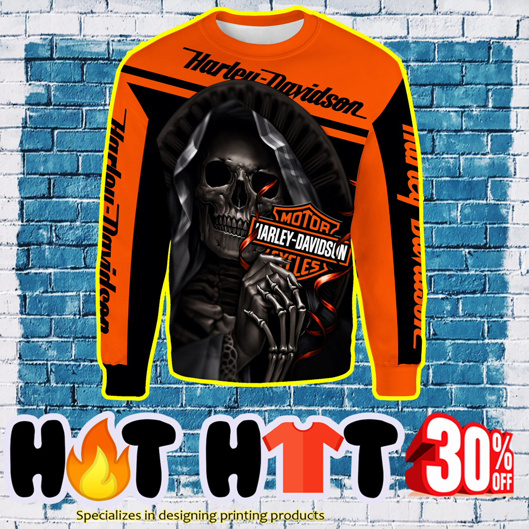 Harley-Davidson Motorcycle Skull Full Over Print 3D sweatshirt