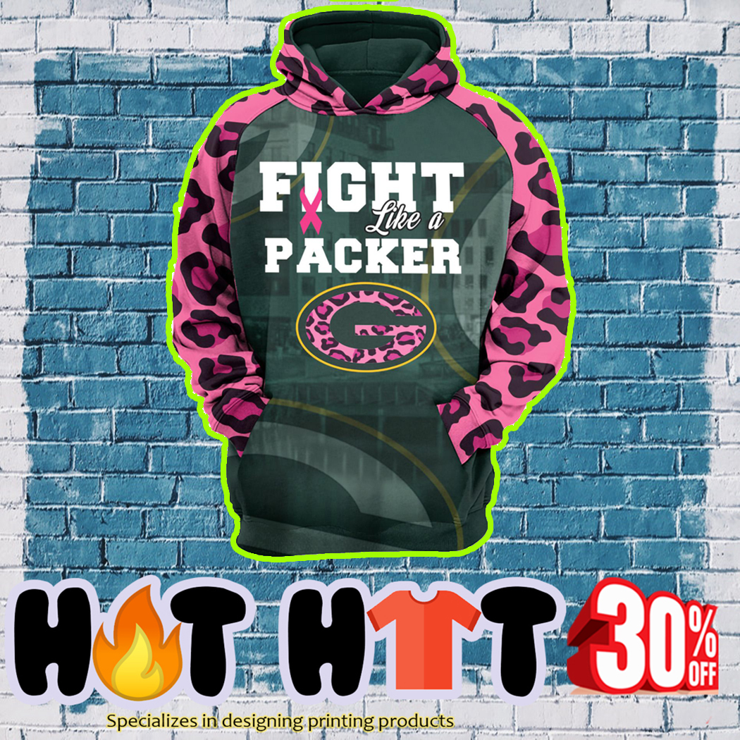 Pink Warrior Fight Like A Packer 3d hoodie