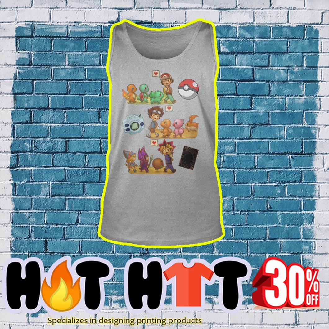 Pokemon Digimon Yu-Gi-Oh tank top