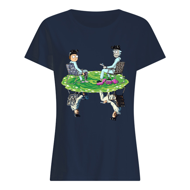 Rick and Morty Breaking Bad reflection lady shirt