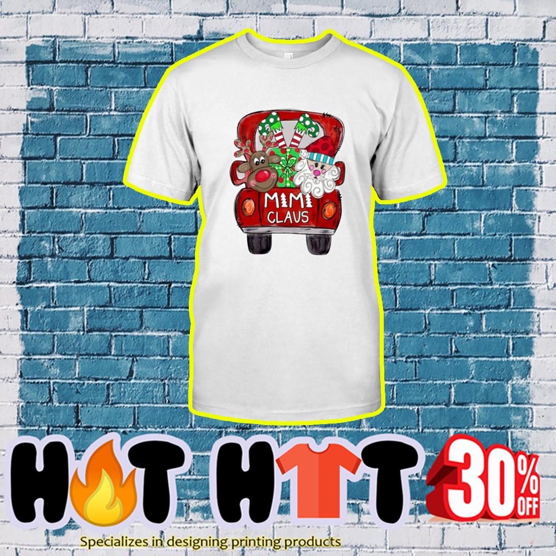 Santa and Reindeer Mimi Claus shirt