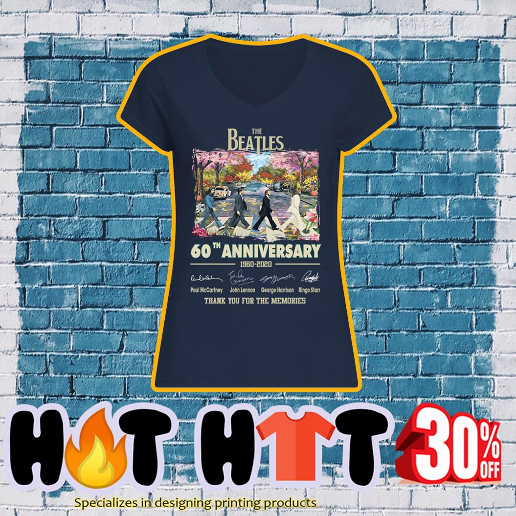 The Beatles 60th anniversary 1960 2020 v-neck