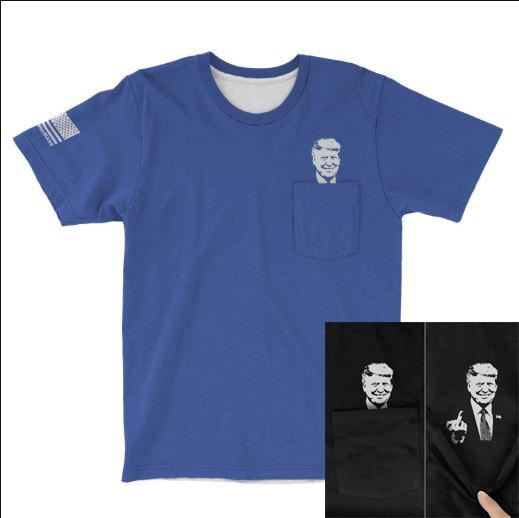 Trump Fuck You Pocket T-shirt - blue