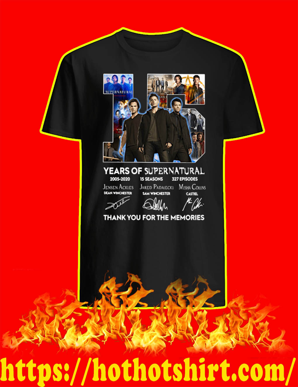 15 Years Of Supernatural 2005 2020 Thank You For The Memories shirt