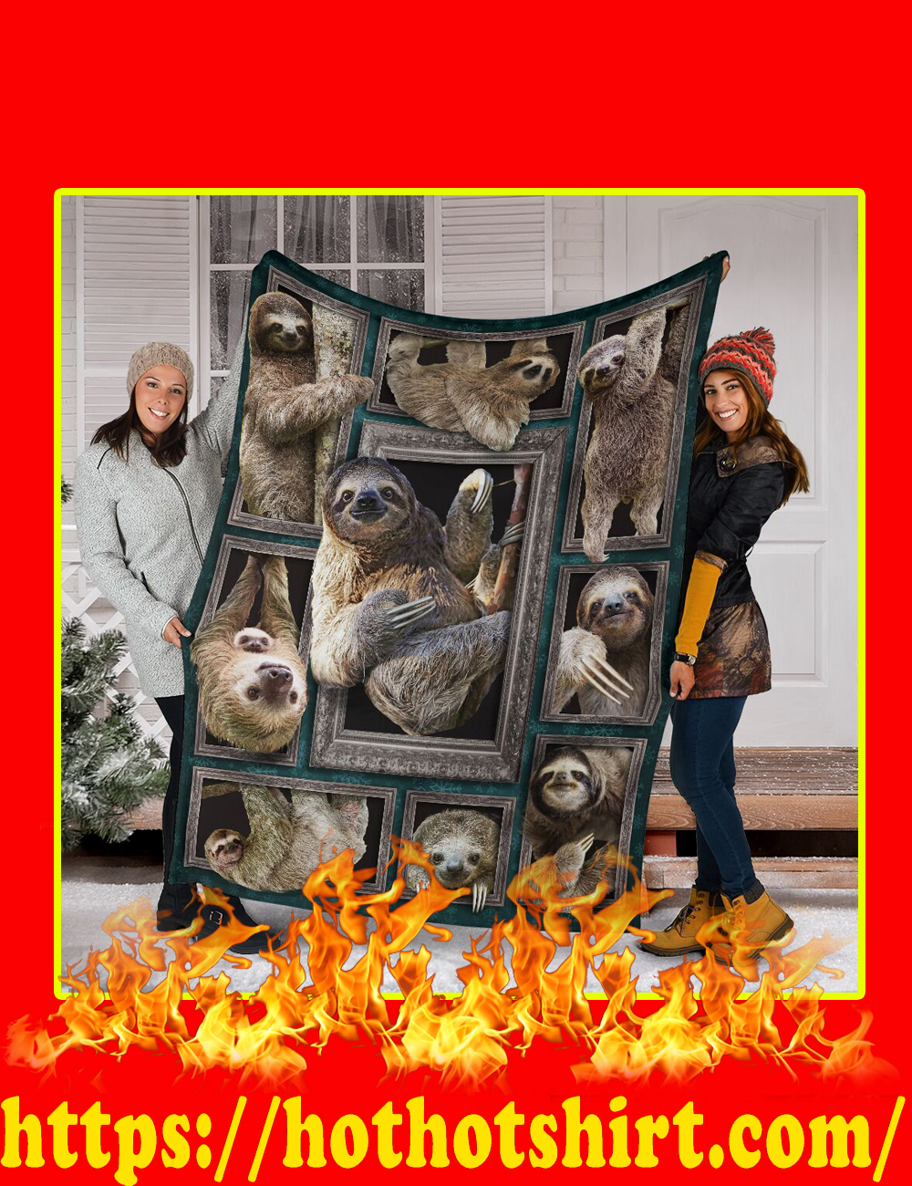 3D Sloth Blanket-Youth