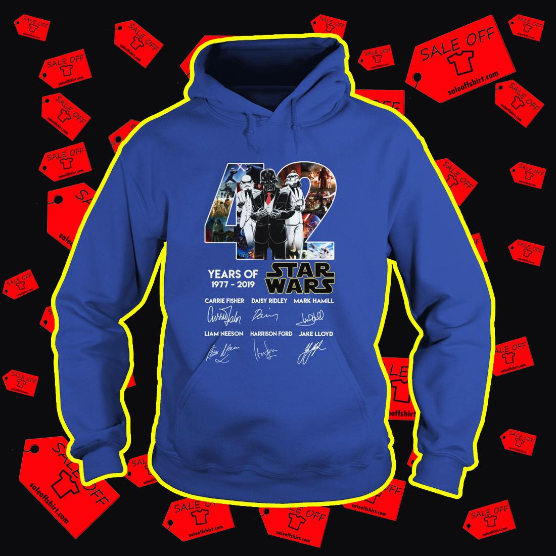 42 Years Of Star Wars 1977 2019 Darth Vader hoodie