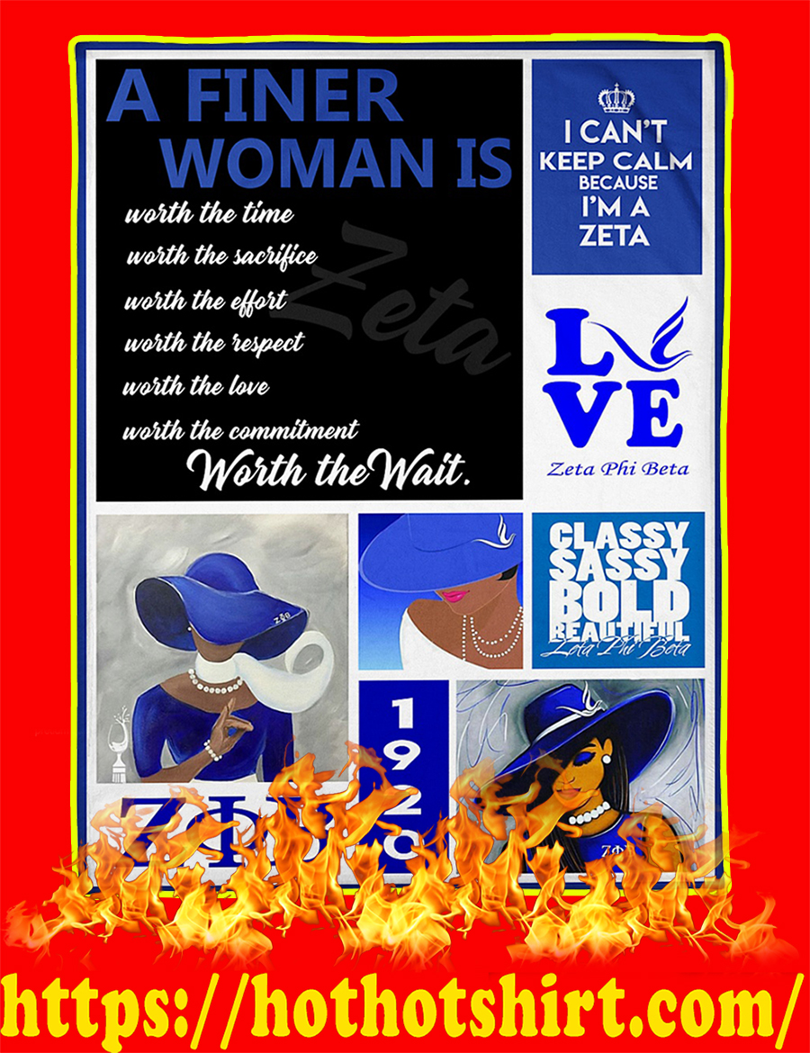 A Finer Woman Is Worth The Time Blanket-large