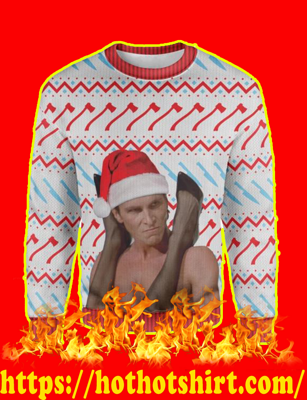 American Psycho Smash Christmas Sweater - picture 1