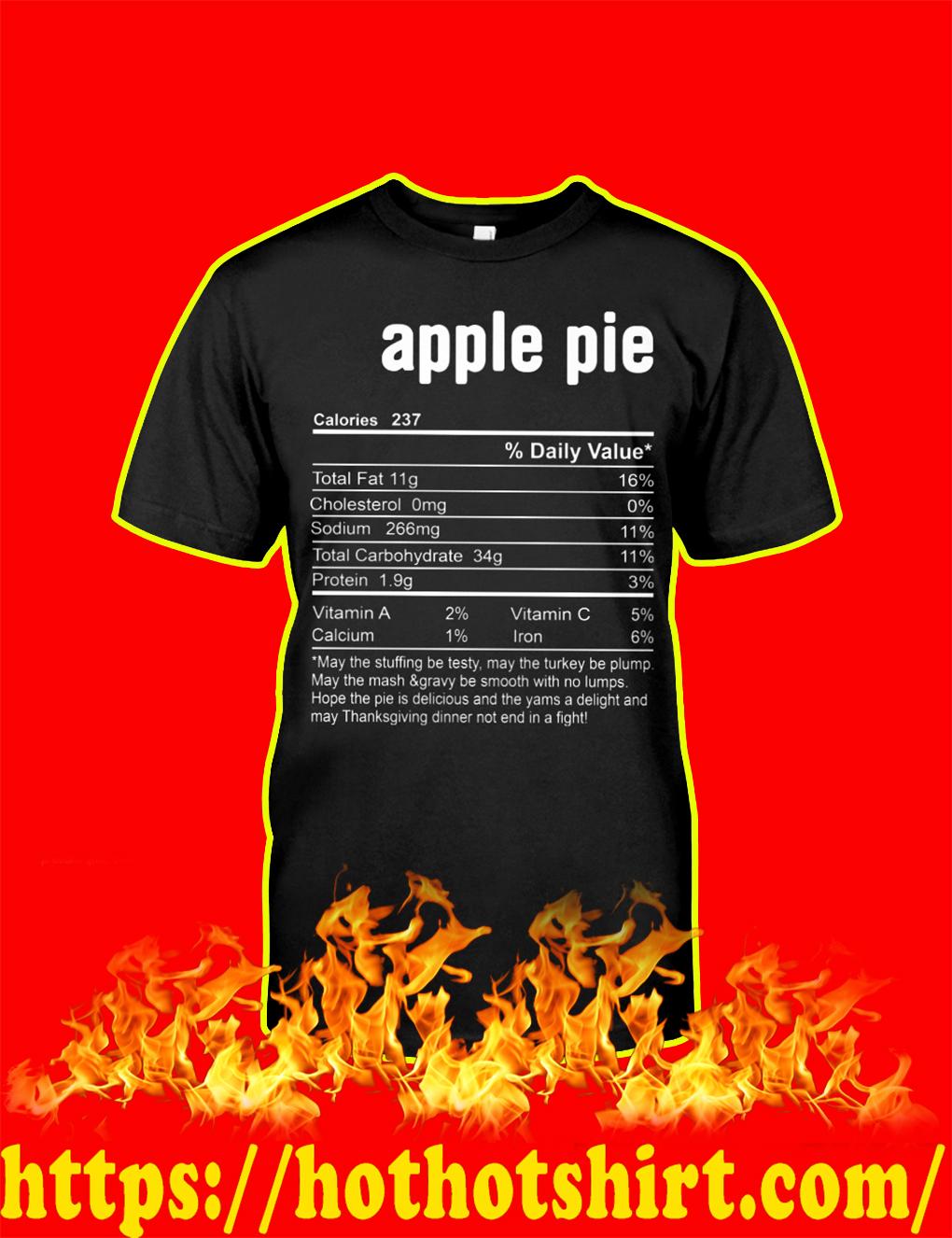 Apple Pie Calories shirt
