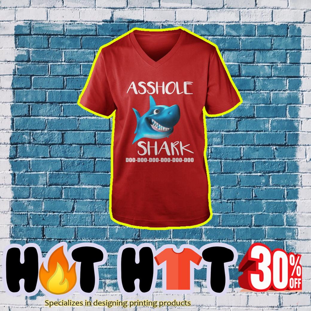 Asshole Shark Doo Doo Doo v-neck