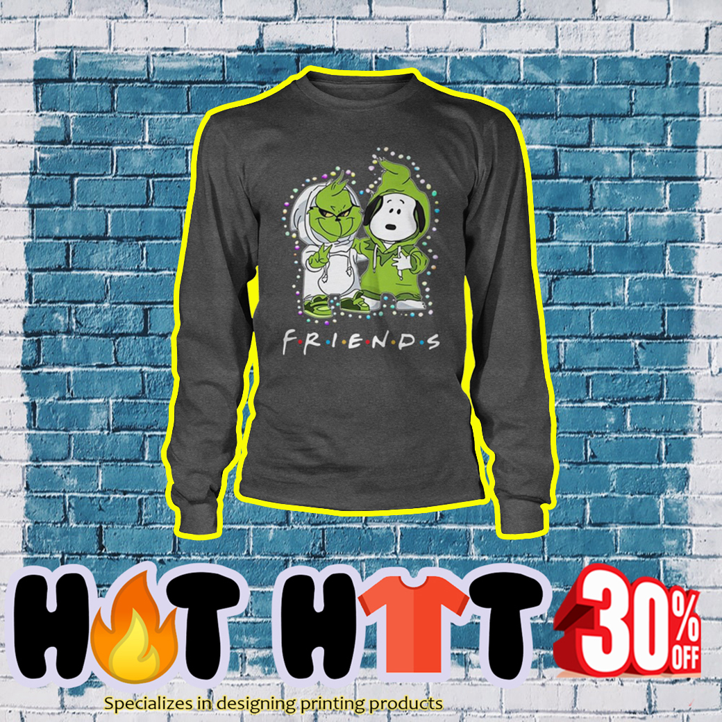 Baby Snoopy and Grinch Friends TV Show longsleeve tee