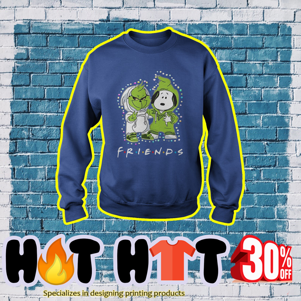 Baby Snoopy and Grinch Friends TV Show sweatshirt