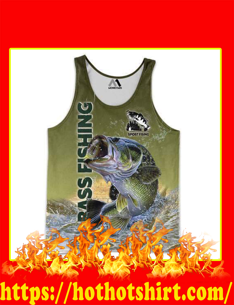 Bass Fishing 3D Tank top