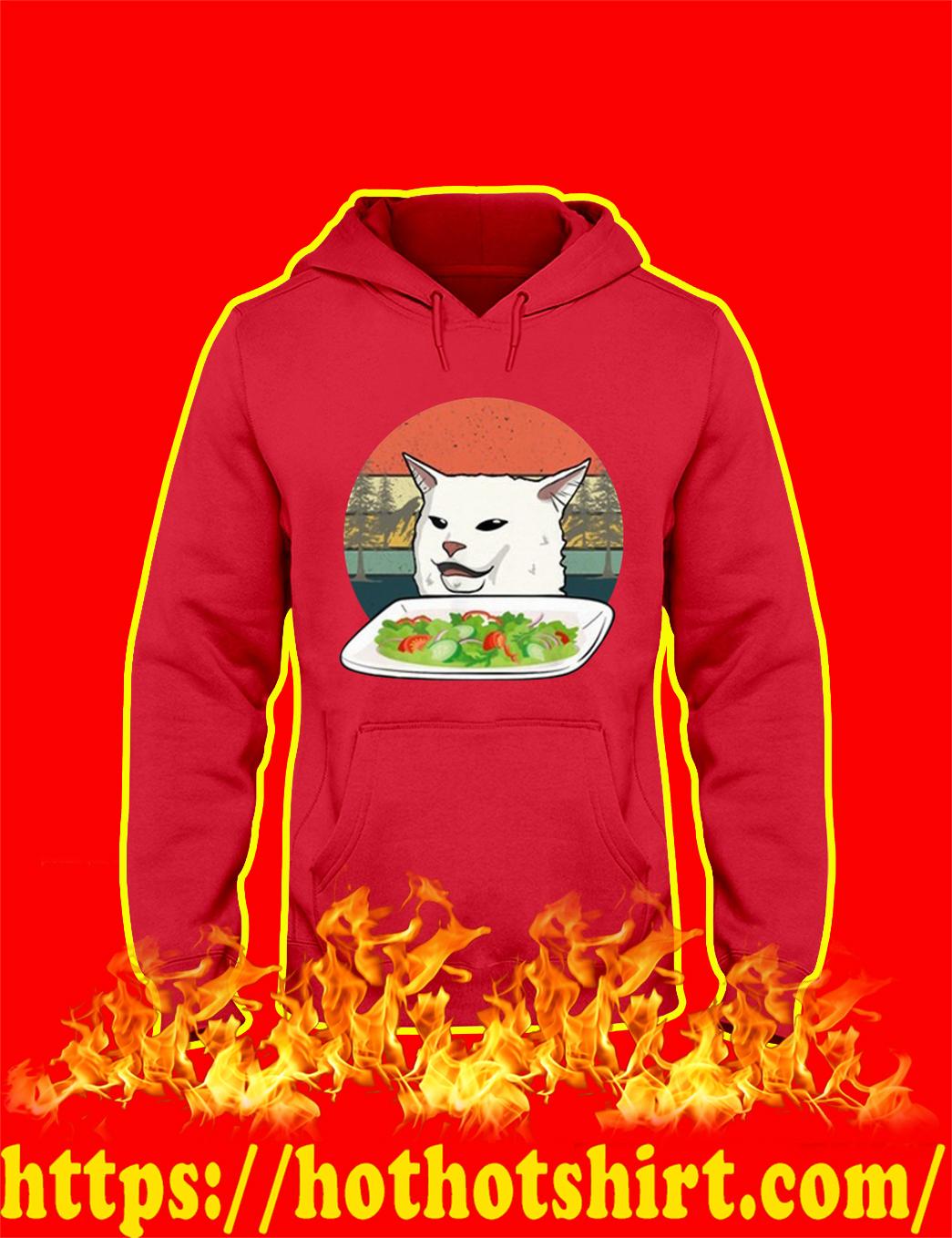 Cat Dinner Meme Vintage Retro hoodie
