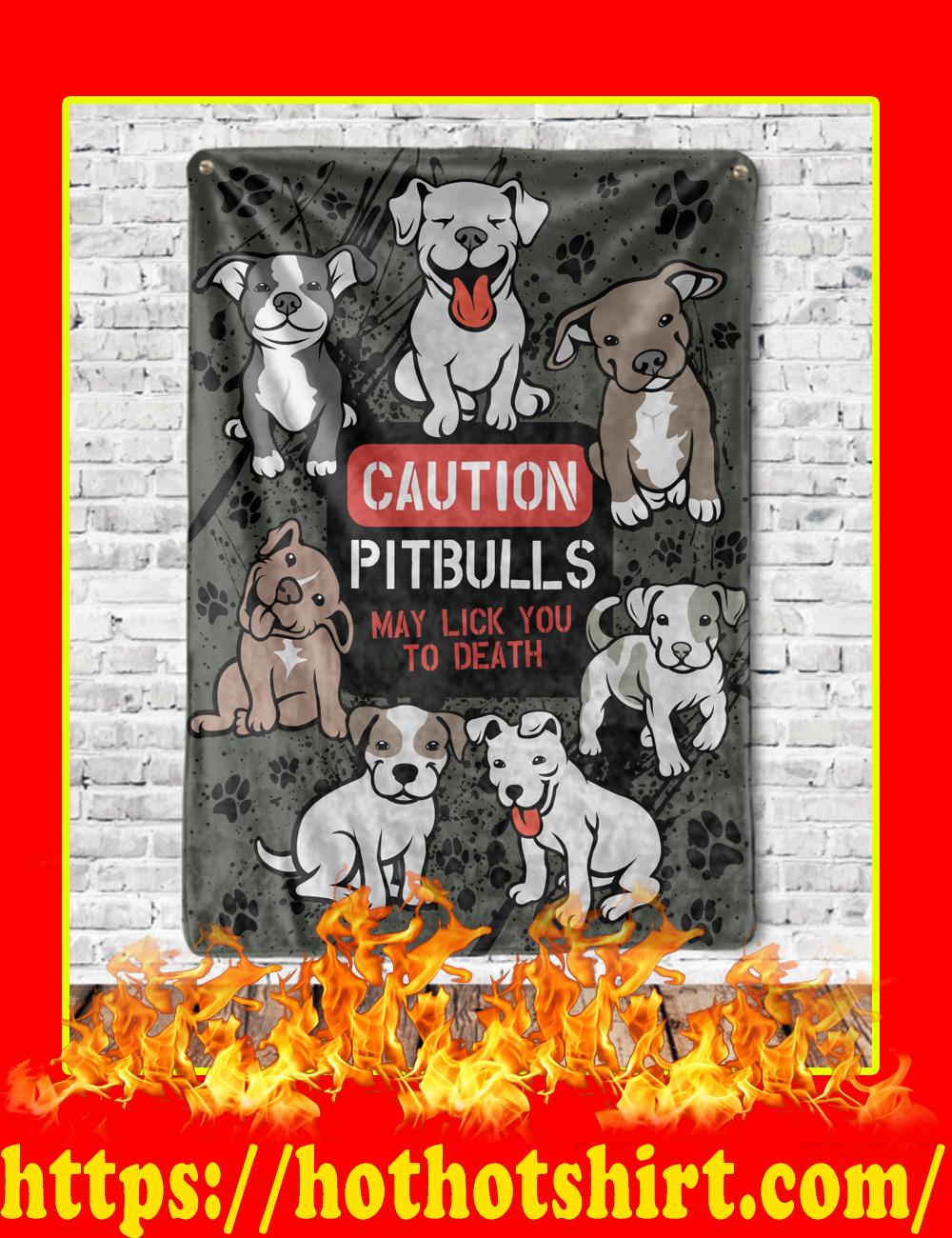 Caution Pitbulls May Lick You To Death Blanket-Youth