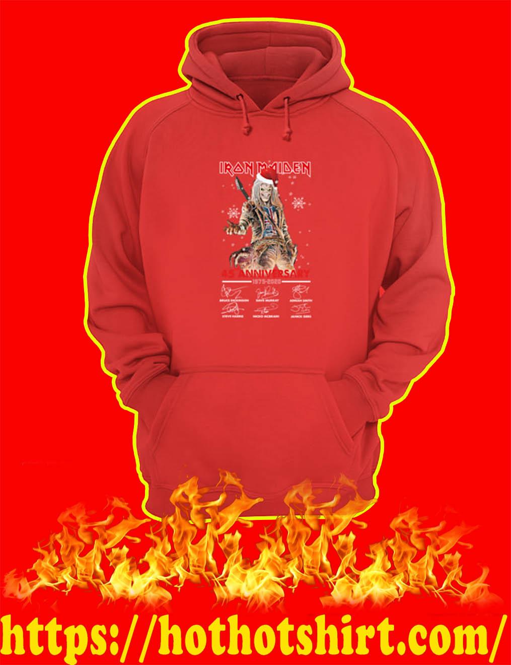 Christmas Iron Maiden 45th Anniversary 1975 2020 Signature hoodie